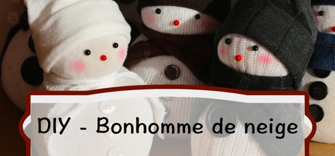Vidéo DIY – Bonhomme de neige en Chaussette