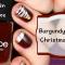 Video Nail Art – Burgundy & Gold Christmas Nails Vernis à ongles