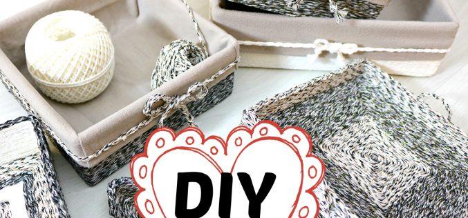 DIY – Comment Faire des Petits Paniers en Ficelle | Tuto déco panier et plateau avec de la ficelle