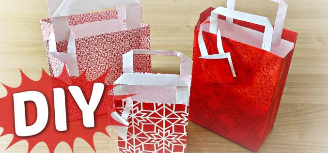 DIY – Comment faire un sac en papier cadeau   tuto IKEA de Noël pliage pour faire un sachet cadeau