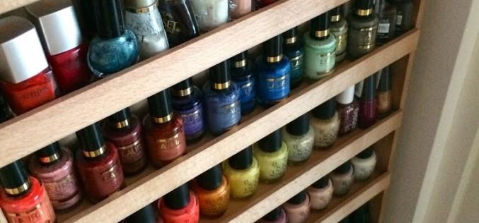 Brico – Mon étagère pour vernis à ongles