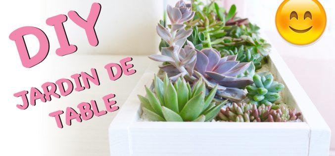 DIY – Jardin de succulentes pour table | décoration de plantes grasses