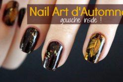 Nail Art –  Feuilles d'automnes | Motifs de feuilles ou de plumes avec de la gouache