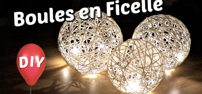 Comment fabriquer des boules lumineuses décoratives | Tuto de lampe en ficelle avec un ballon