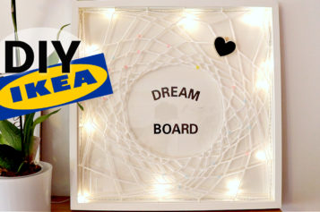 DIY –  Comment Faire un Dreamboard : Tableau de vision positif et attrape rêve lumineux   TUTO IKEA