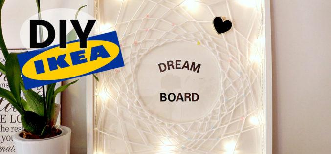 DIY –  Comment Faire un Dreamboard : Tableau de vision positif et attrape rêve lumineux | TUTO IKEA