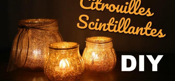 DIY – Photophores à Paillettes ou Citrouilles Scintillantes