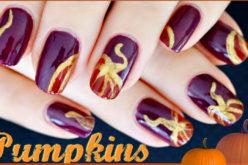 NAIL ART – Des citrouilles sur les ongles, manucure pour l'automne