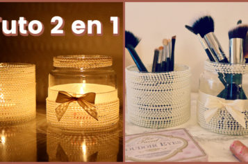 DIY – Comment recycler des jarres en pot à pinceaux ou pot à bougies déco