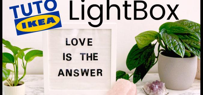 DIY – Comment faire une LightBox avec un cadre RIBBA de chez IKEA et du texte lumineux