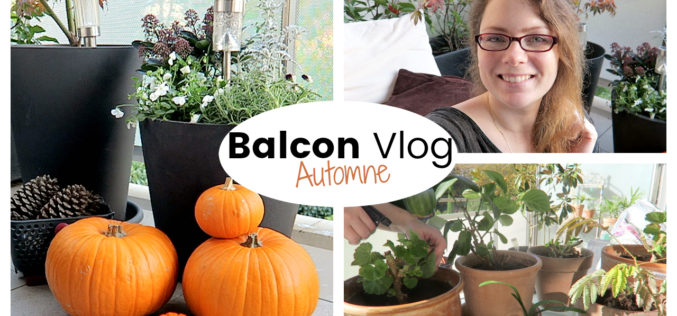 BALCON VLOG : Rentrer les plantes et décorer son balcon en automne | Vlog jardinage au balcon
